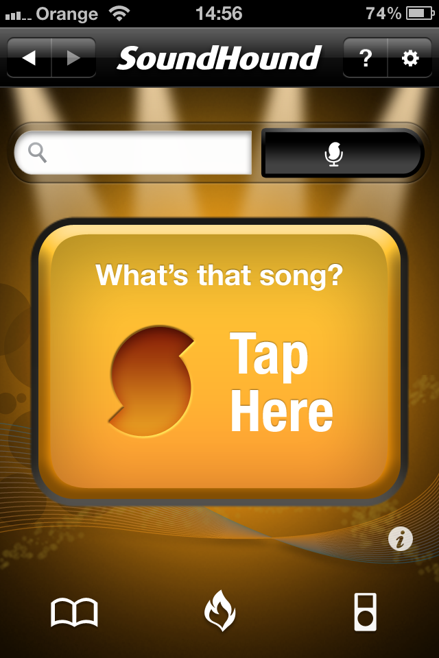 SoundHound Tap Here