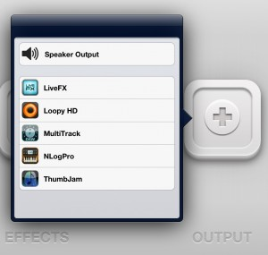 audiobus output app selection