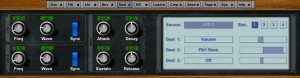 NLog features four LFOs and a vey functional Modulation Matrix so there is plenty of scope for creative sound shaping.