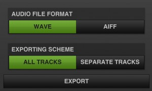 The option to render out each track as a separate audio file is useful.