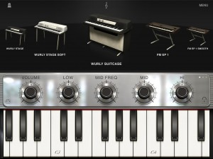 The main iLectric screen - pick your instrument and get playing. Click on any of the images to see a full size version.