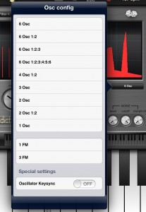 Addictive Synth offers a wide range of preset ways to combine the six oscillators.