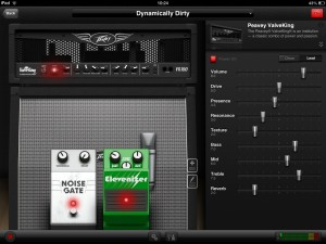AmpKit's main tone tweaking screen on the iPad - not too scary for technophobic guitar players.