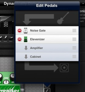 You can adjust the order of your effects pedals to suit your needs/