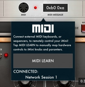 iMini supports a nice MIDI Learn feature.