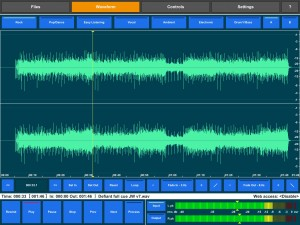 The Waveform window allows you to see what your audio looks like, apply fades to set a loop region but Audio Mastering is not designed an audio editing tool.