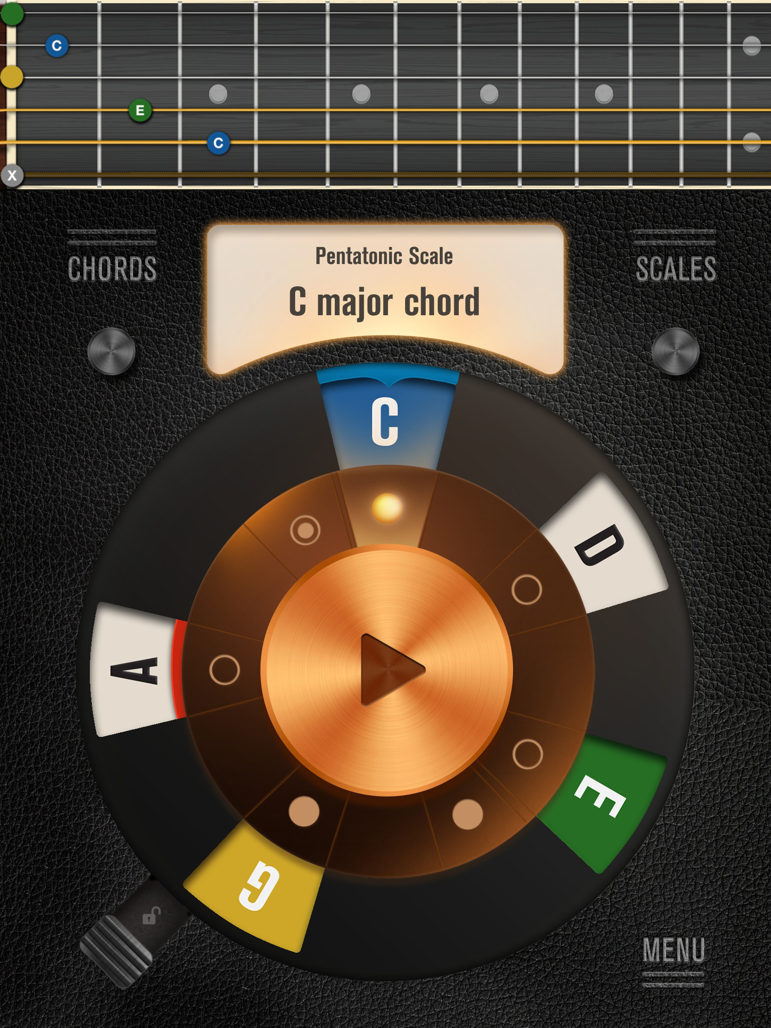 Music app review jamn by miq limited music app blog jamns main screen with the fretboard display you can swipe to see a piano hexwebz Image collections