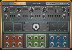 The editing panel for each effect shares similar features but the top strip of controls are specific to parameters within that effect.