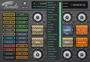Turnado offers presets at a number of levels. Overall presets capture a complete configuration of all eight effects used but there are also presets for individual effects (as seen here for the Stutter effect) and presets for some individual effects parameters.