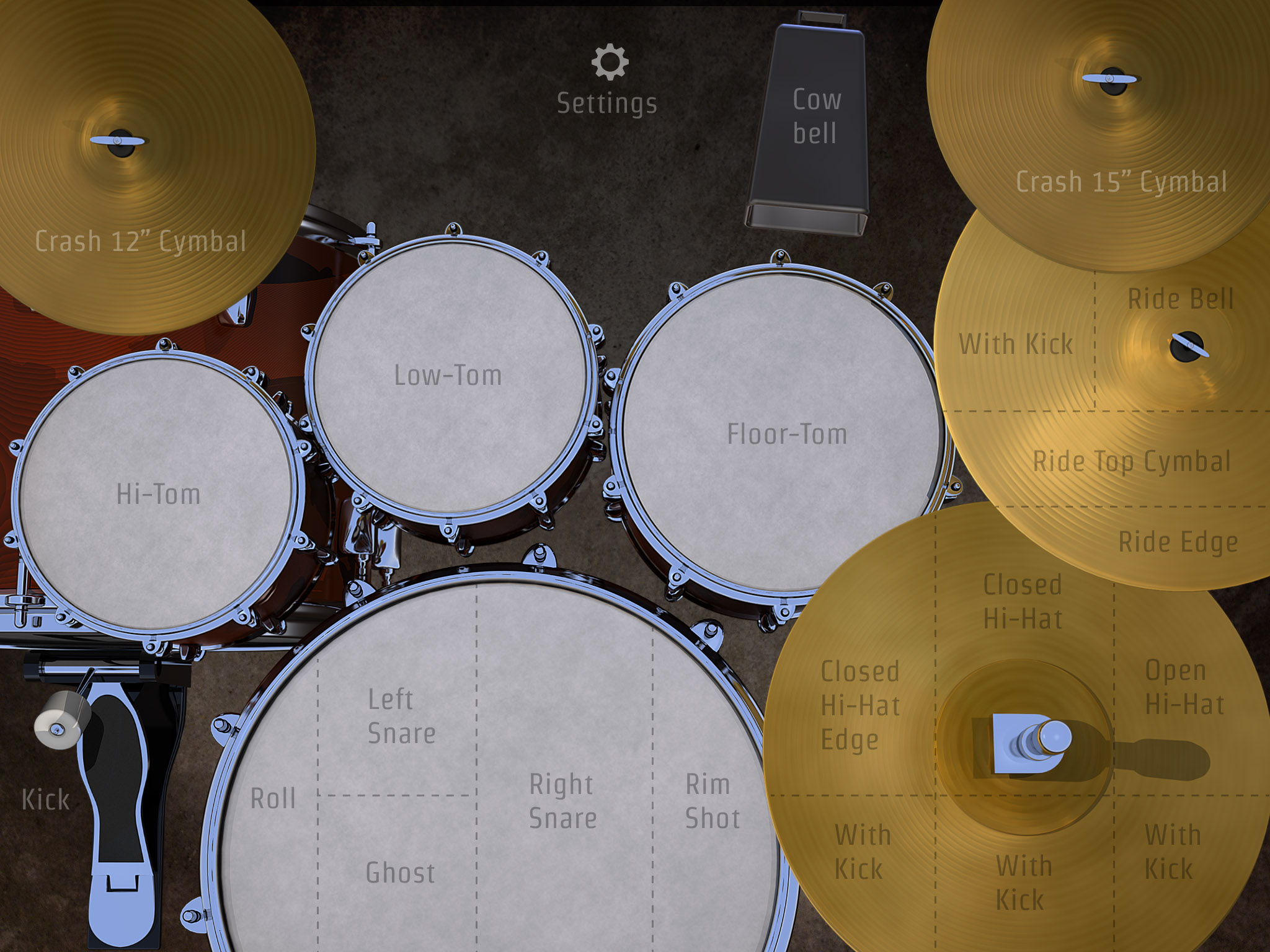 Drumkick S Playing Surface Nicely Laid Out Making The Various Performance Options Easy To Access