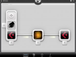 Harmony Voice being used with JamUp Pro and Cubasis via Audiobus.