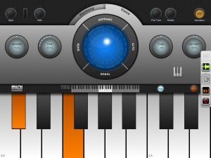 Harmonies can also be controlled via MIDI notes using the virtual keyboard or a hardware keyboard connected to your iPad.
