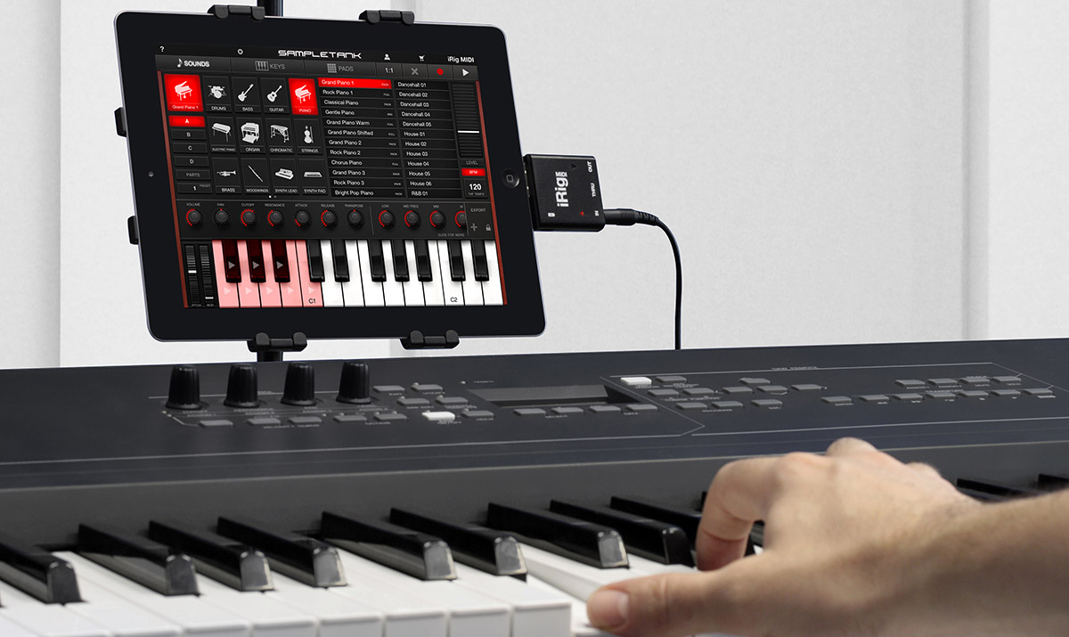Hook up piano keyboard to ipad