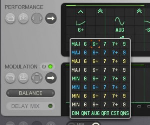 Thesys include plenty of programmable performance options including a preset selection of chord types.