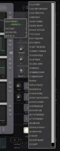 As well as a comprehensive collection of pattern presets, the app also includes a good collection of preset sounds for use with the internal synth engine.