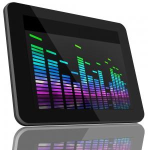 VU meter graphic on tablet 1