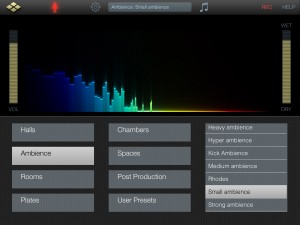 AudioReverb comes with an extensive set of presets that are very well organised.