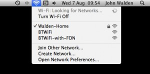 Select the 'Create Network' option once Wi-Fi is enabled.