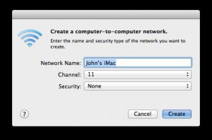You can enter a name for your new network if you wish...  but the default settings are fine.