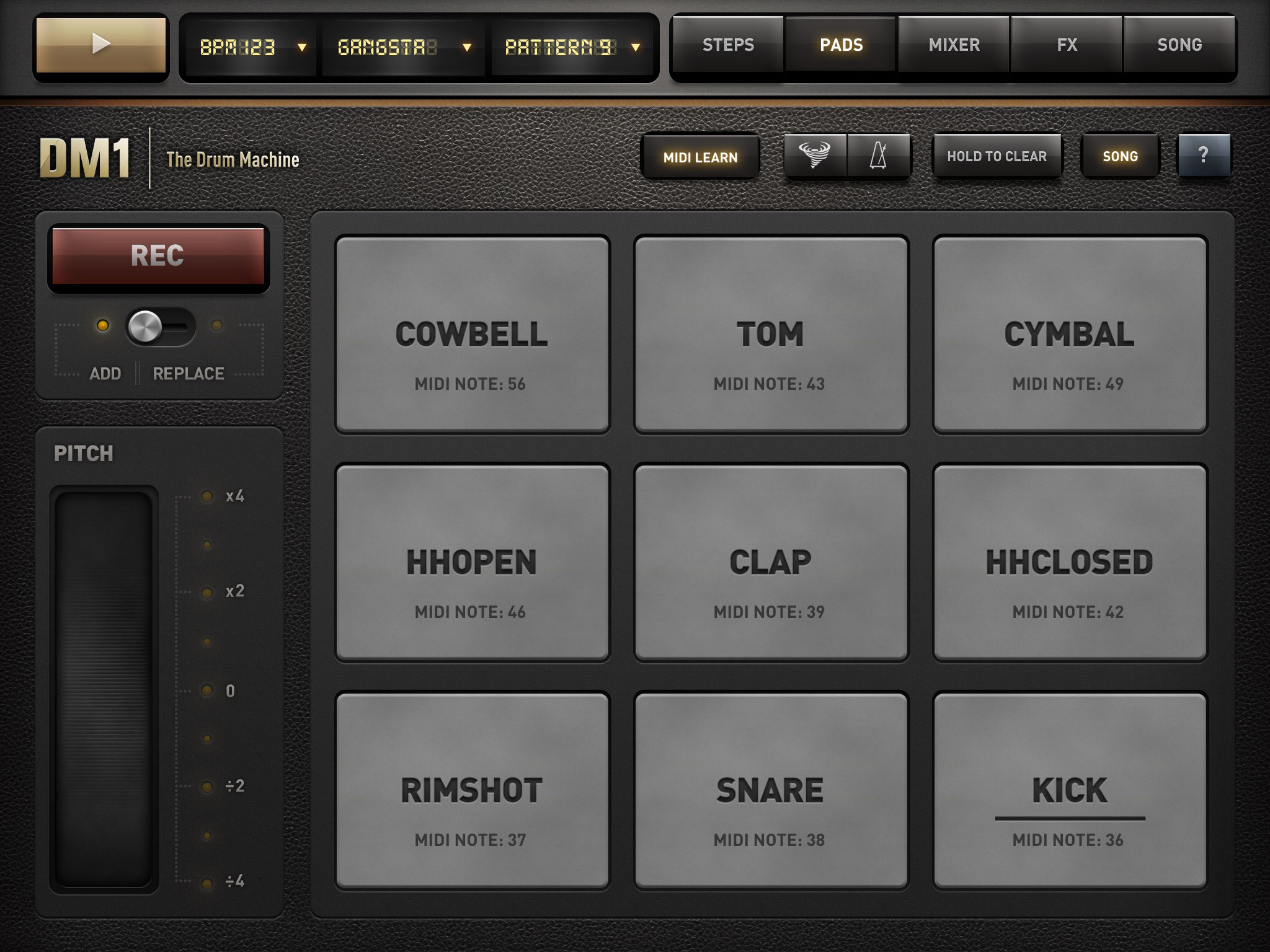 Dm1 Music App Review Brilliant Drum Machine For Ios From
