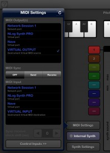 Gestrument will send MIDI data to other apps quite happily.