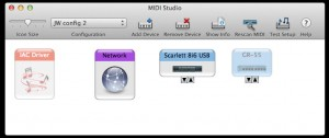The MIDI Studio window of the Audio MIDI Setup.