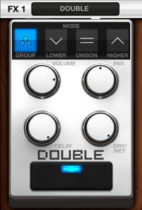 The Double effect creates an automatic double track sound.