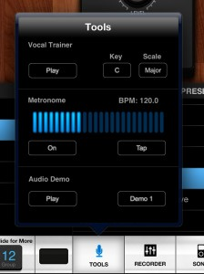 There is a handy metronome and some useful vocal samples that make it easy to experiment with patch editing.