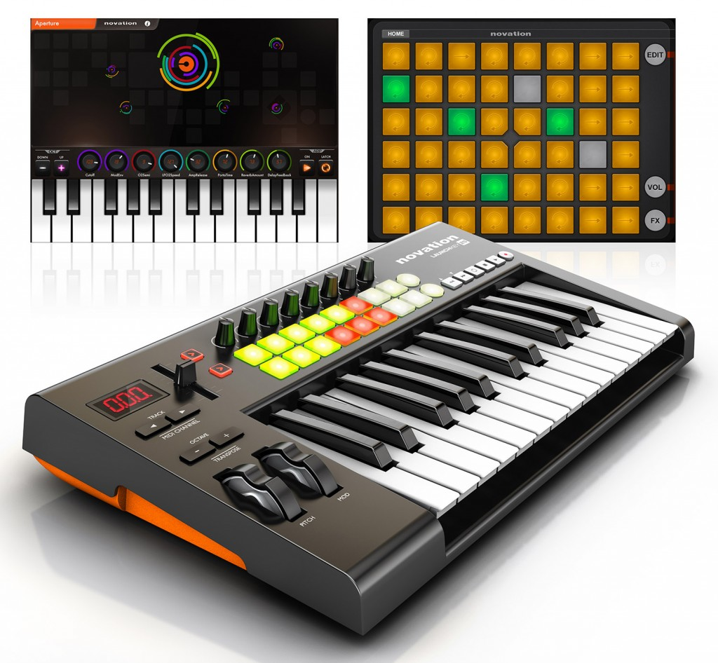 Novation's Launchkey series are a good options for the iOS musician.