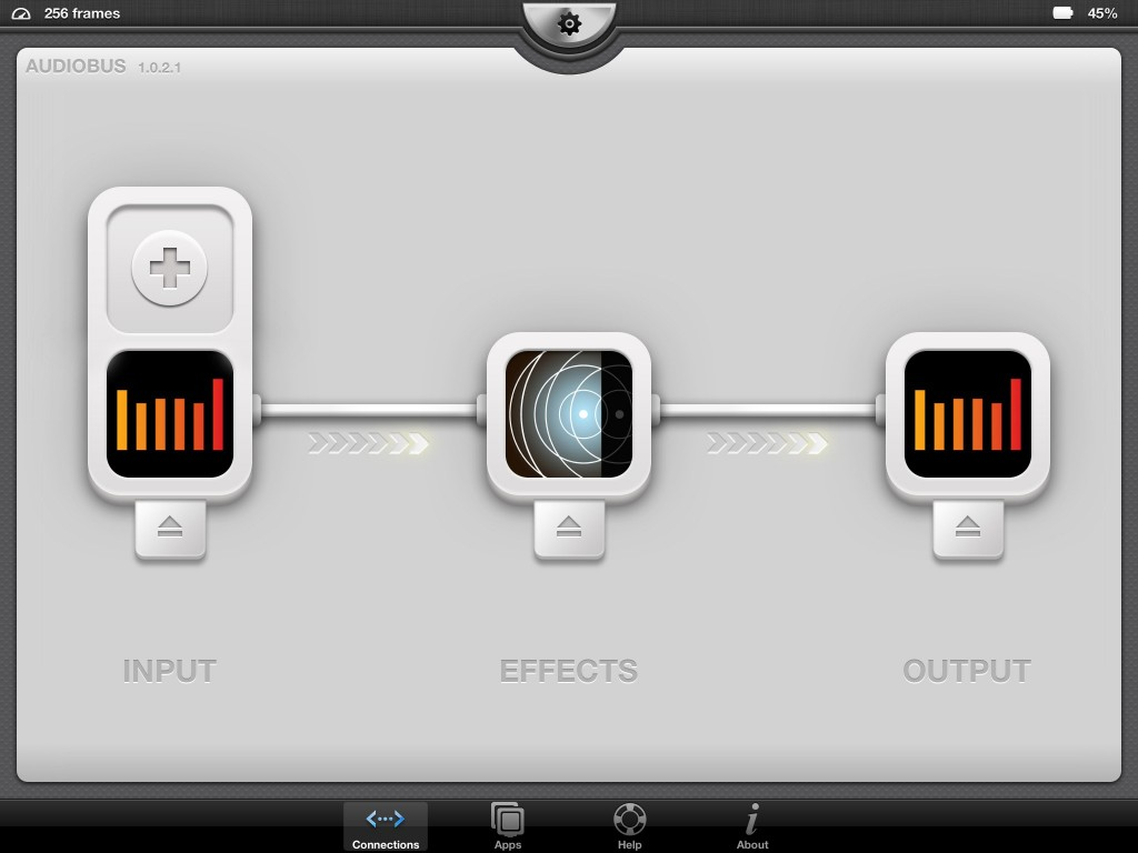 Fig. 5 - I've added AudioReverb as my effects app but you could use any of the excellent 3rd party audio effects apps for your processing.