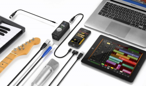 The iRig PRO provides plenty of connectivity options for iOS musicians.
