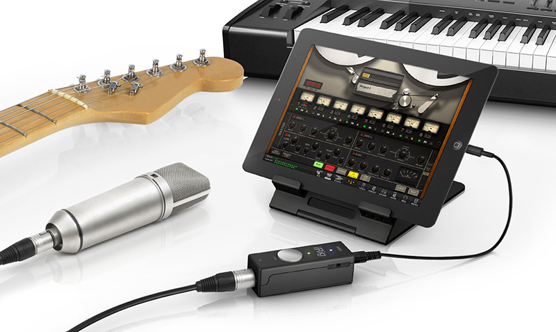 The iRig PRO is a very compact audio+MIDI interface for iOS.