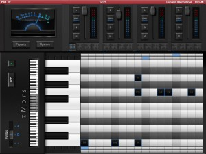 The sequencer provides a fairly standard grid-based approach to pattern creation.