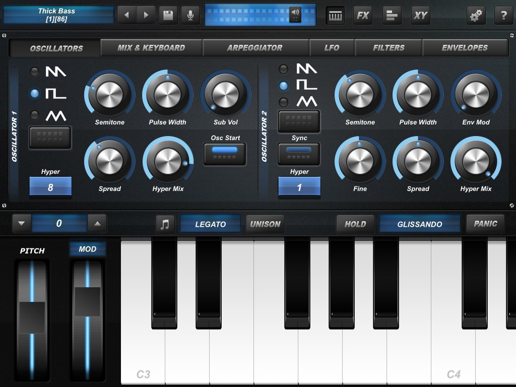 Arctic ProSynth's main interface - nicely laid out and easy-to-use controls.