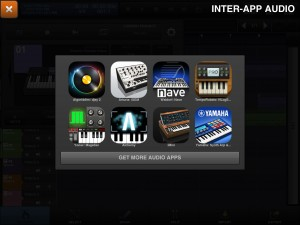 At present, you can only use instrument apps that have IAA support but not effects apps such as AUFX:Dub or AUFX:Space.