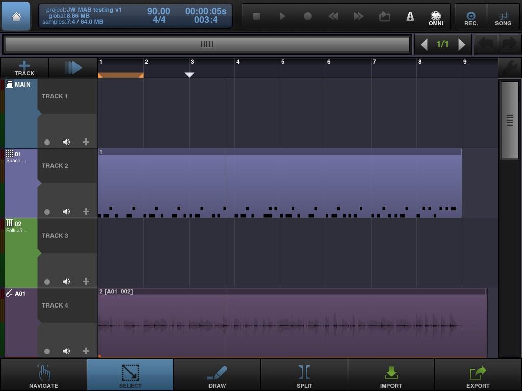 BeatMaker 2's sequencing environment follows a fairly standard format.