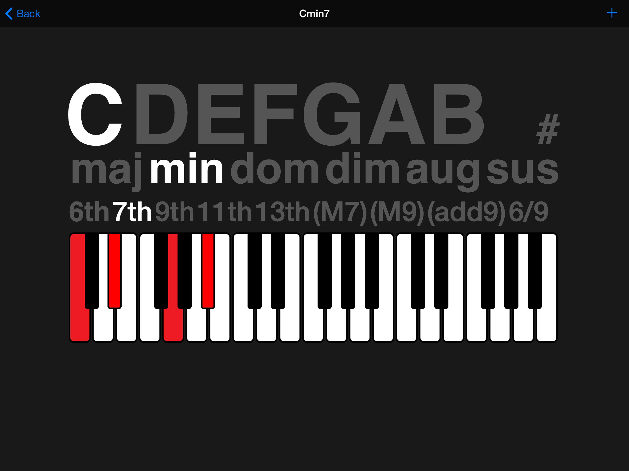 Chordology music app review neat chord dictionary from greg as well as guitar banjo and ukulele options you also get piano chords hexwebz Image collections