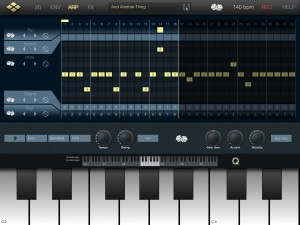 The Arp screen provides a rather neat arpeggiator.
