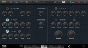 Cube Synth's effects are easy to use and provide plenty of further sound creating options.