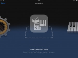 IAA compatible apps can now be used as a source for a new track in Garageband.