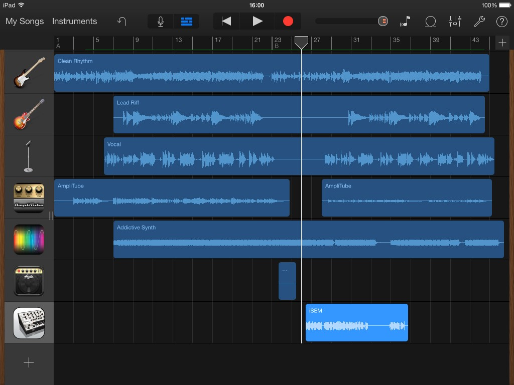 Horray! I've added a ninth track! And in this a case it was via an IAA app.