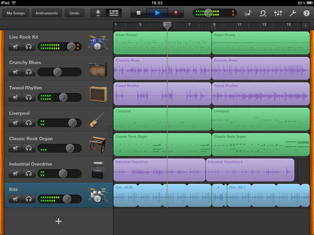Garageband for iPad; it might only be eight tracks but it packs a lot power considering it costs the same as a large coffee.