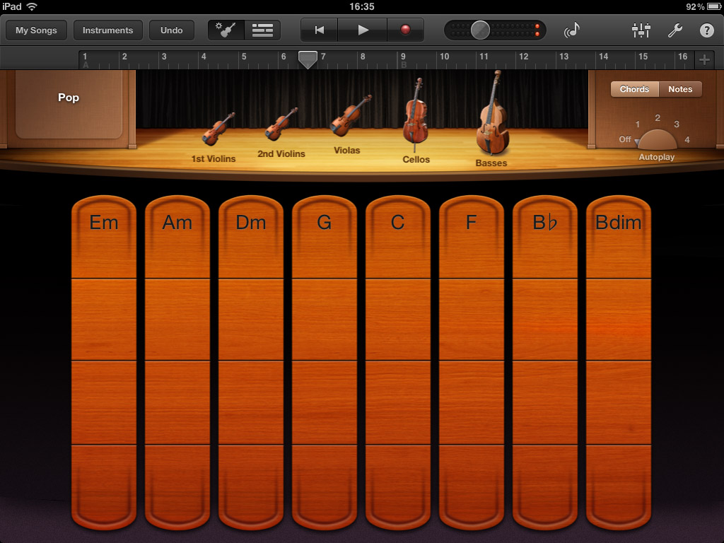 Garageband offers an excellent suite of virtual 'smart' instruments.