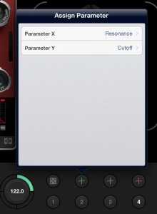 Linking WOW parameters to the X-Y controller is very easy.