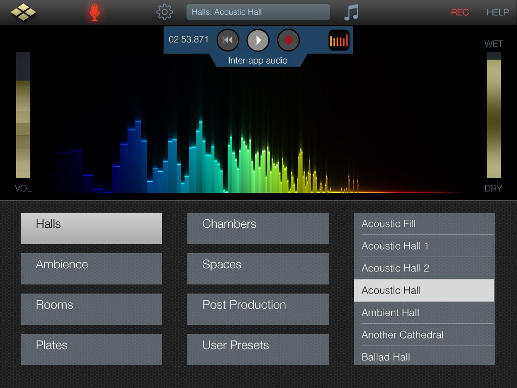 AudioReverb now supports inter app audio - and seems to work well with Auria.