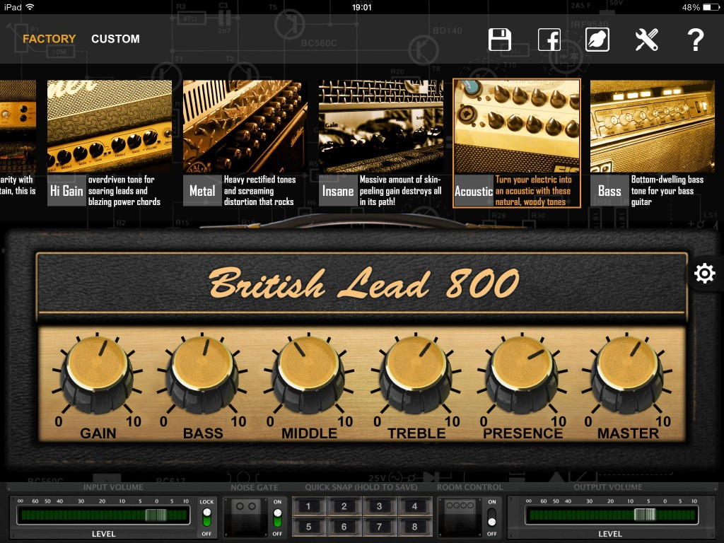 BIAS features 36 default amp models organised into a number of categories and covering a hugh range of tonal possibilities.