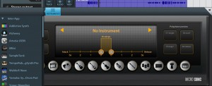 You can also use IAA-compatible instrument apps through a Cubasis MIDI track.