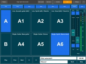 The large preset selection pads would be great if using the app in a live setting.