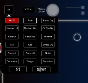 Echo Pad does more than just echos.... filters, distortion and others are included.