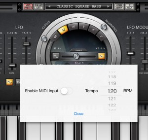 Nanologue will happily accept MIDI data from other apps or an external keyboard.